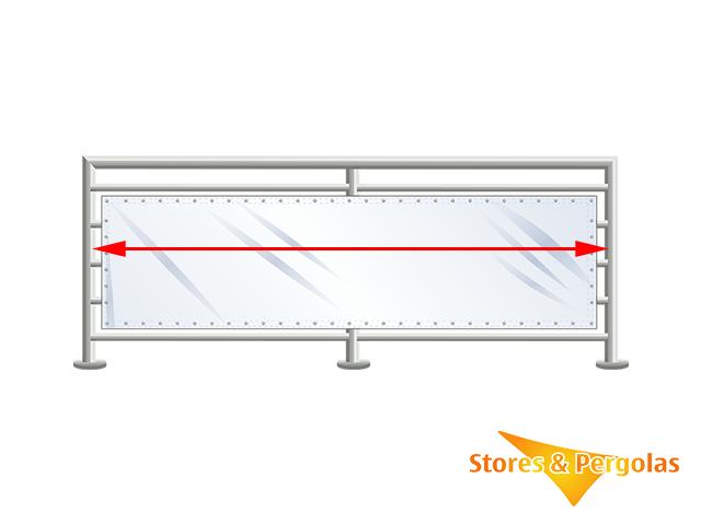 Comment mesurer la hauteur disponible pour installer un brise-vue de balcon ?