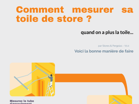 Mesurer sa toile de store quand on ne l'a plus en sa possession ?